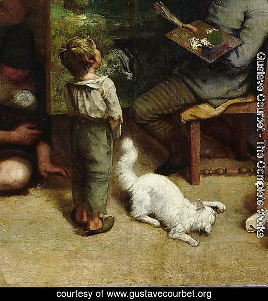 The Studio of the Painter, a Real Allegory, 1855 (detail)