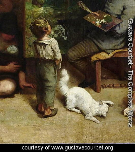 Gustave Courbet - The Studio of the Painter, a Real Allegory, 1855 (detail)