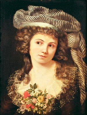 Gustave Courbet - Portrait of a young woman in the style of Labille-Guiard