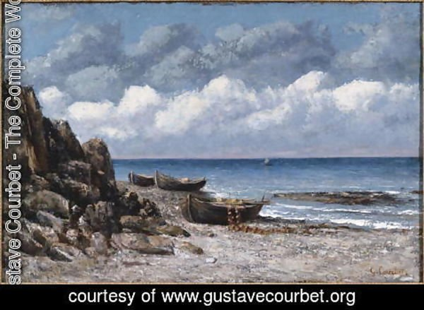 Gustave Courbet - Boats at St. Aubain
