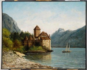 Gustave Courbet - The Castle of Chillon, Evening, c.1872