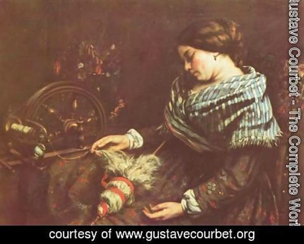 Gustave Courbet - The Sleeping Embroiderer, 1853