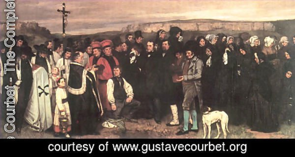 Gustave Courbet - Burial at Ornans, 1849-50