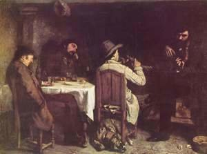 Gustave Courbet - After Dinner at Ornans, 1848