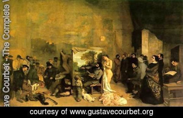 Gustave Courbet - The Studio of the Painter, a Real Allegory, 1855