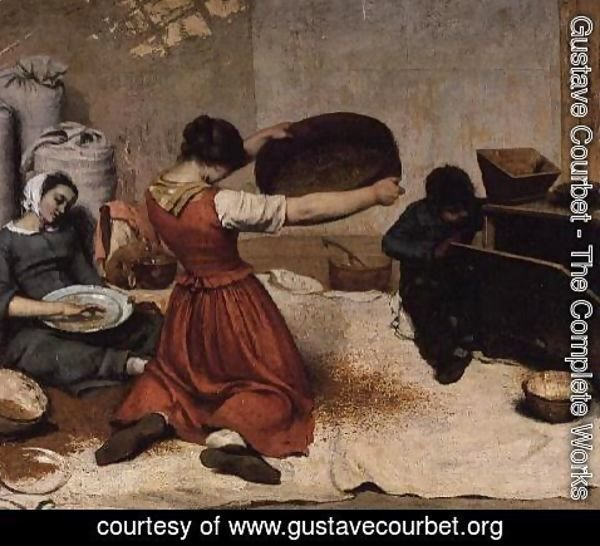 Gustave Courbet - The Winnowers, 1855