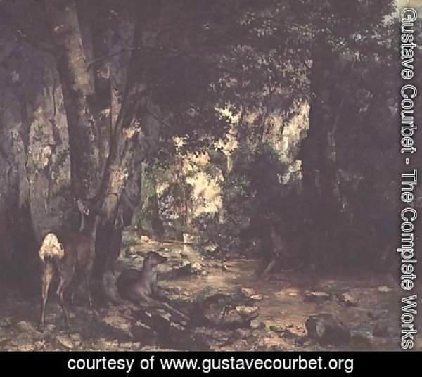 Gustave Courbet - The Return of the Deer to the Stream at Plaisir-Fontaine, 1866