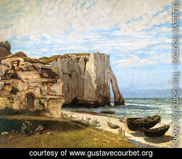 Gustave Courbet - The Cliffs at Etretat after the storm, 1870