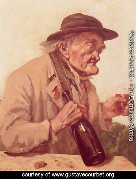 Gustave Courbet - Old Man with a glass of wine