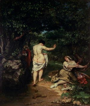 Gustave Courbet - Les Baigneuses, 1853
