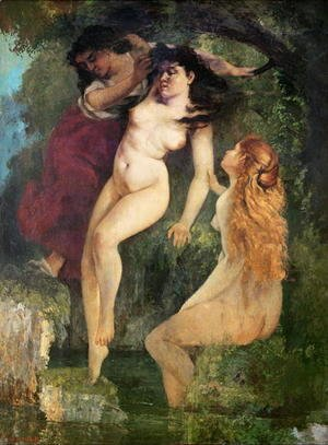 Gustave Courbet - Three Bathers