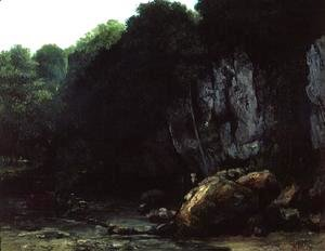 Gustave Courbet - The Stream from the Black Cavern