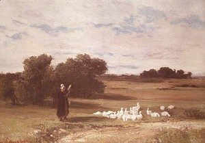 Gustave Courbet - Girl with Geese