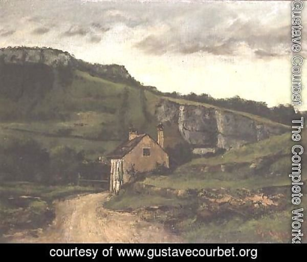 Gustave Courbet - A Country Cottage