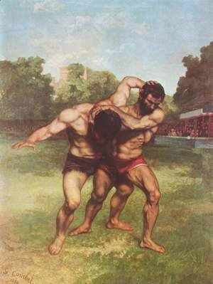 Gustave Courbet - The Wrestlers, 1853