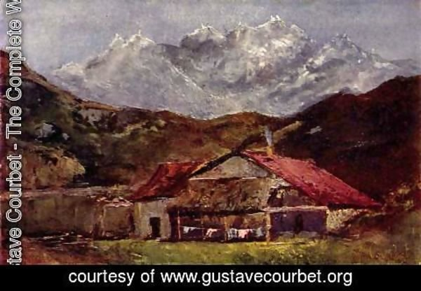 Gustave Courbet - A Hut in the Mountains