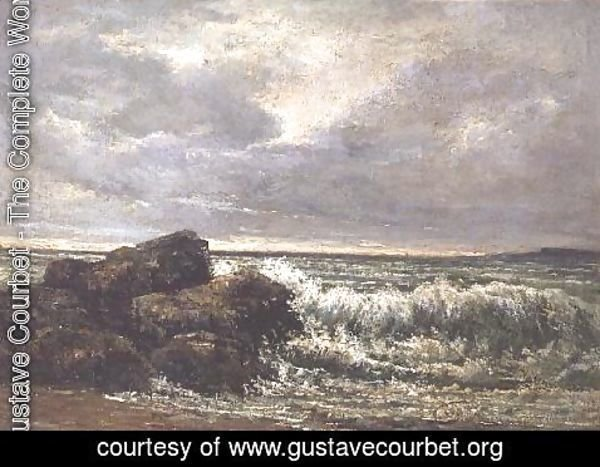 Gustave Courbet - The Wave, 1869 2