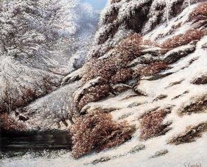 Deer in a Snowy Landscape, 1867