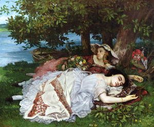 Gustave Courbet - Girls on the Banks of the Seine, 1856-57