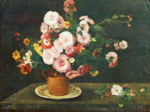 Gustave Courbet - Still life with asters