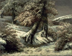 Gustave Courbet - Trees in the Snow, c.1865