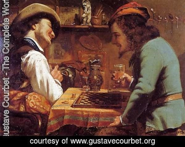 Gustave Courbet - The Draughts Players