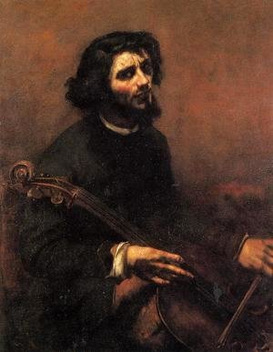 Gustave Courbet - The Cellist, Self Portrait