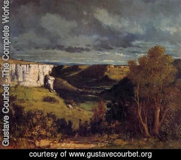 Gustave Courbet - The Valley of the Loue in Stormy Weather