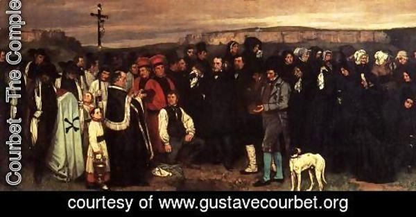 Gustave Courbet - A Burial at Ornhans