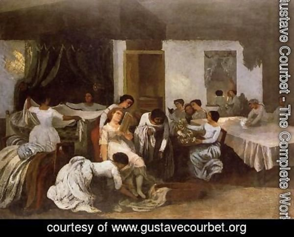 Gustave Courbet - Dressing the Dead Girl