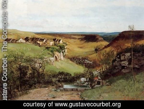 Gustave Courbet - The Chateau d'Ornans