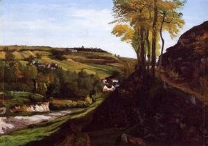 Gustave Courbet - Valley of Ornans