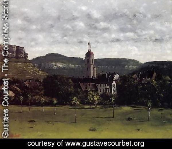 Gustave Courbet - View of Ornans and Its Church Steeple