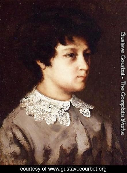 Gustave Courbet - Portrait of a Young Girl from Salins