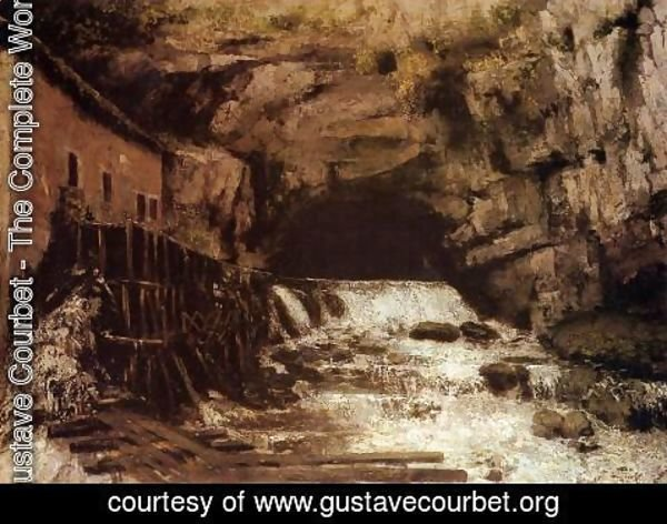 Gustave Courbet - The Source of the Loue I