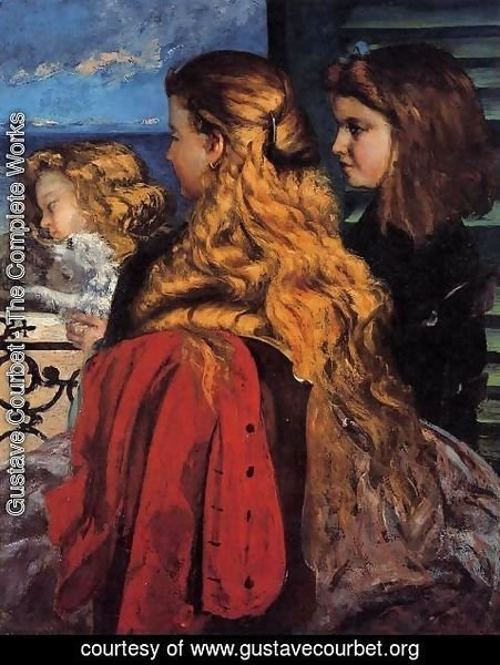 Gustave Courbet - Three English Girls at a Window