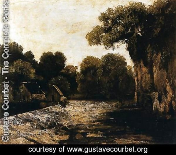 Gustave Courbet - Locks on the Loue