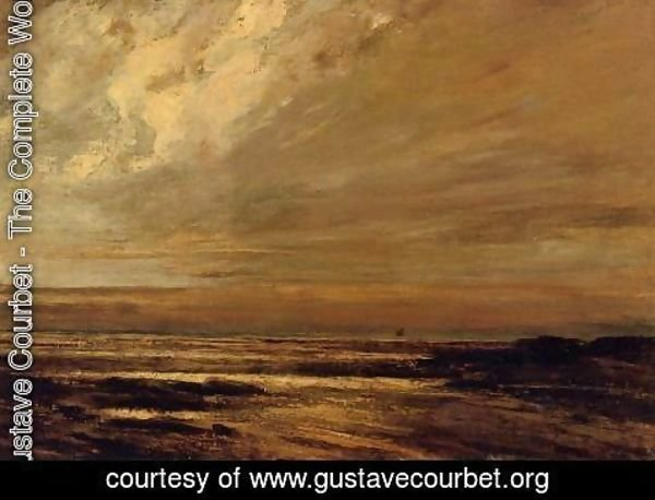 Gustave Courbet - The Beach at Trouville at Low Tide II
