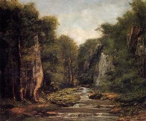 Gustave Courbet - The River Plaisir-Fontaine