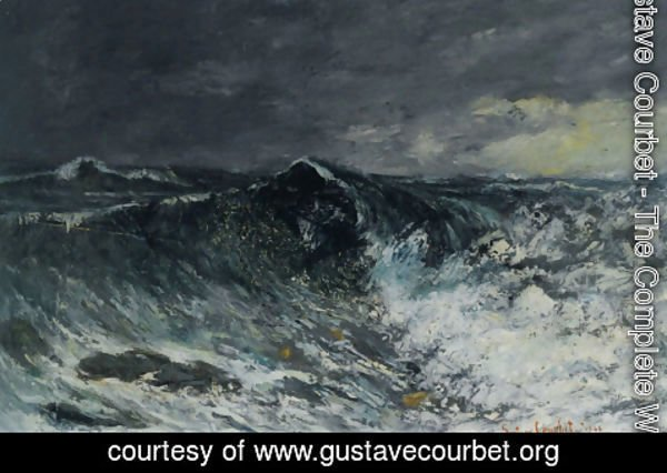Gustave Courbet - The Wave 2