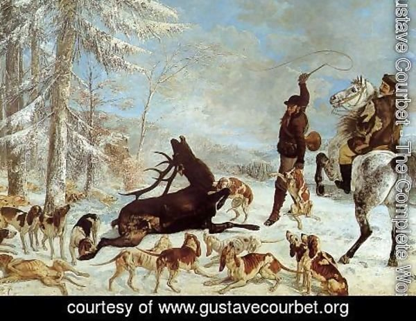 Gustave Courbet - The Hallali of the Stag