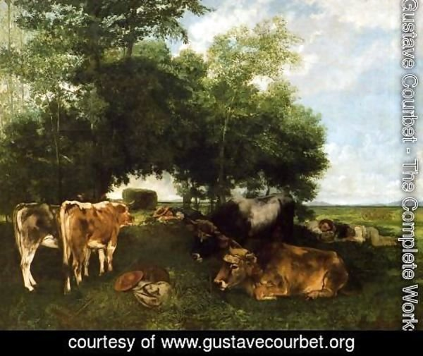 Gustave Courbet - The Rest During the Harvest Season