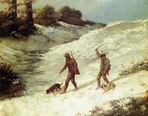 Gustave Courbet - Poachers in the Snow