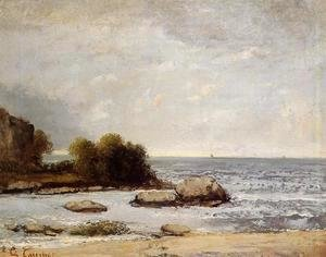 Gustave Courbet - Seascape at Saint-Aubin
