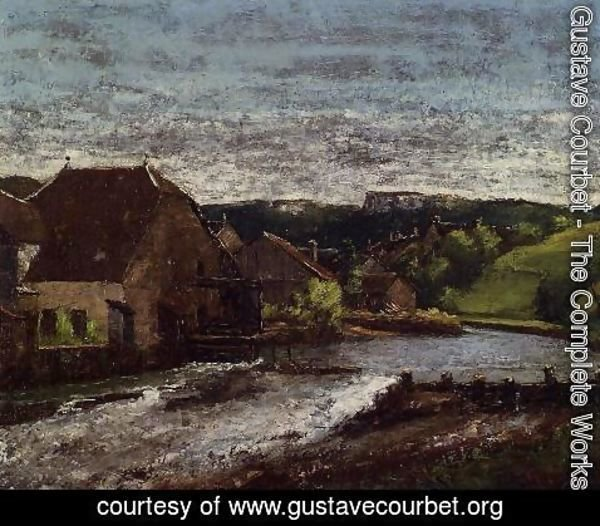 Gustave Courbet - The Loue Valley
