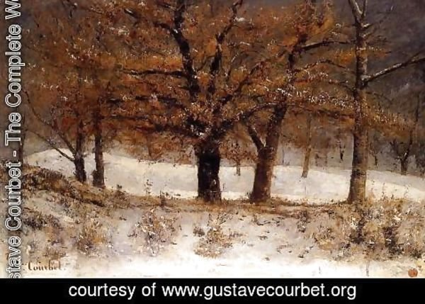 Gustave Courbet - View of the Parc de Crete over Clarens