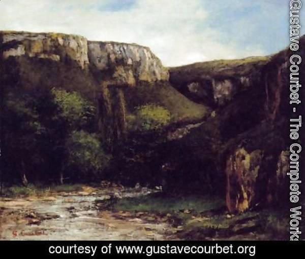 Gustave Courbet - The Gorge