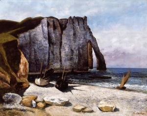 Gustave Courbet - The Cliff at Etretat, the Porte d'Avale