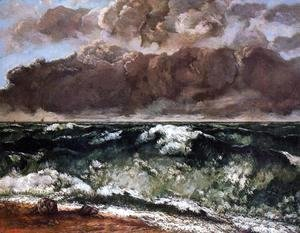 Gustave Courbet - The Wave II