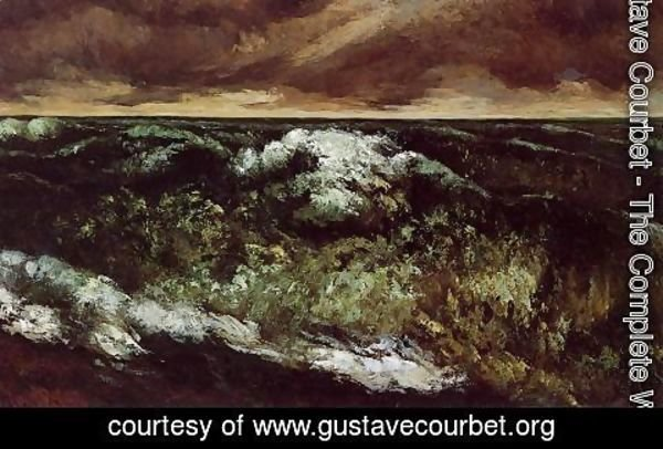 Gustave Courbet - The Angry Sea